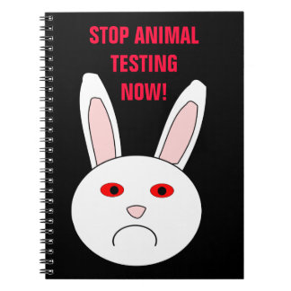 Stop Animal Testing Now Notebook