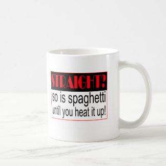 Straight? Basic White Mug