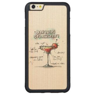 Strawberry Daiquiri Drink Recipe Design Carved® Maple iPhone 6 Plus Bumper Case