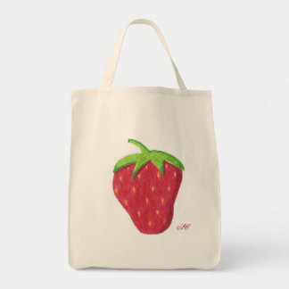 Strawberry grocery grocery tote bag