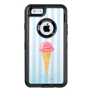 Strawberry Ice Cream Cone With Blue Stripes OtterBox iPhone 6/6s Case
