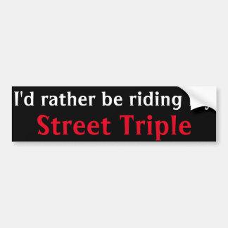 street triple bumper sticker