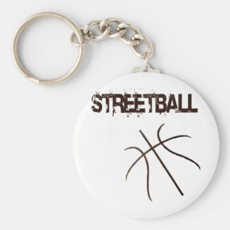 Streetball Basic Round Button Key Ring
