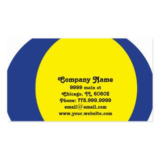 Striking Blue & Yellow Circular Modern Design Pack Of Standard Business Cards