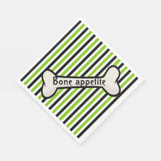 Stripes and Bone Halloween Paper Napkins