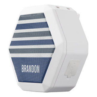 Stripes Pattern custom monogram speaker