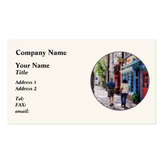 Strolling Down King Street Alexandria VA Pack Of Standard Business Cards