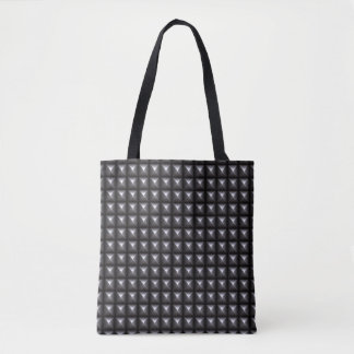 Studded Steel Texture Tote Bag