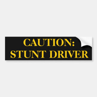 Stunt Driver Sticker Bumper Sticker