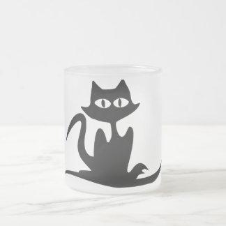 stylish cat frosted mug