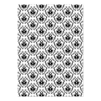 Stylish Damask Design in Black and White. Pack Of Chubby Business Cards