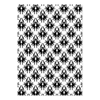 Stylish Damask Pattern in Black and White. Pack Of Chubby Business Cards