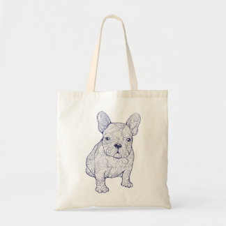 Stylish design with cool dog budget tote bag