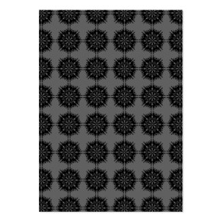 Stylish elegant pattern. Black and Gray. Pack Of Chubby Business Cards