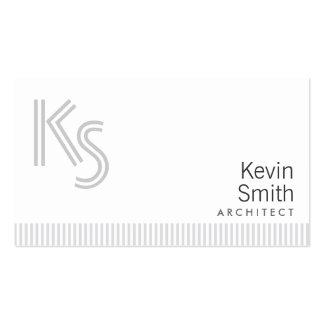 Stylish Plain White Architect Business Card