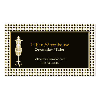 Stylish Tailor Shop Business Card
