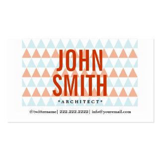 Stylish Triangle Pattern Architect Business Card