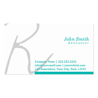 Stylish Typography Announcer Business Card
