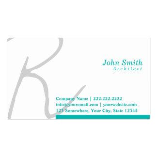 Stylish Typography Architect Business Card
