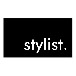 stylist. loyalty punch card pack of standard business cards