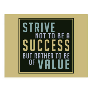 Success & Value Motivational postcard