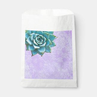 Succulent Watercolor Lavender Lace Favour Bags