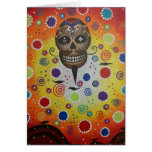 Sugar Skull By Lori Everett Greeting Card
