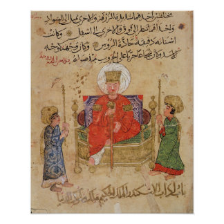 Sultan on his throne poster