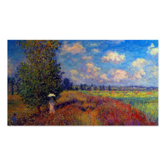 Summer art impressionist poppy fields by Monet Pack Of Standard Business Cards