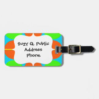 Summer Citrus Lime Green Orange Yellow Teal Circle Tag For Luggage