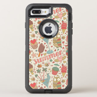 Summer Pattern With Ice Cream OtterBox Defender iPhone 7 Plus Case