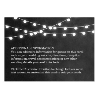 Summer String Lights Wedding Insert Card Pack Of Chubby Business Cards