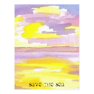Sun Drama Save the Sea CricketDiane Ocean Products Postcard