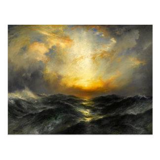 Sundown at the Ocean Postcard