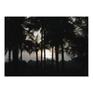 Sundown in a palm forest 13 cm x 18 cm invitation card