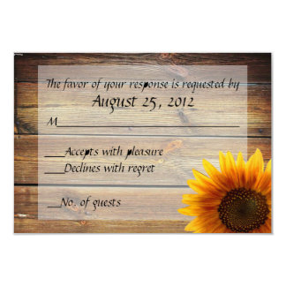Sunflower Country RSVP card 9 Cm X 13 Cm Invitation Card