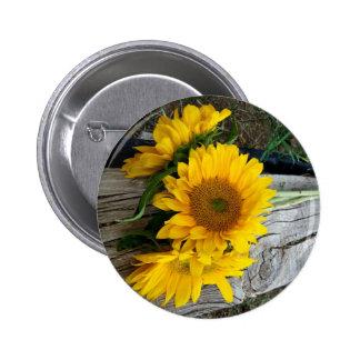 Sunflowers 6 Cm Round Badge