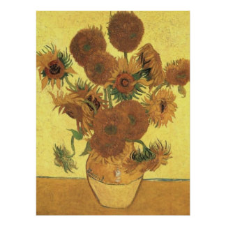 Sunflowers by Van Gogh Post-Impressionist Poster