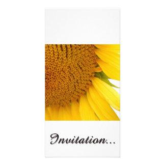 Sunflowers Customized Photo Card