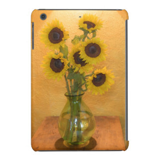 Sunflowers in vase on table 2 iPad mini case