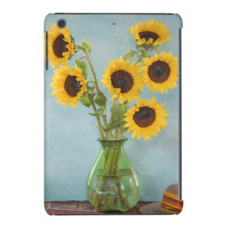 Sunflowers in vase on table iPad mini case