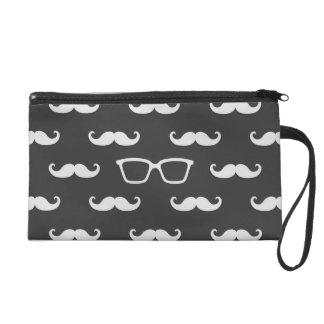 Sunglasses and Moustache Wristlet Purses