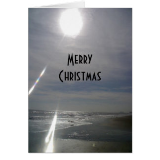 """""""SUNNY BEACH"""" MERRY CHRISTMAS/HAPPY NEW YEAR TOO GREETING CARD"""