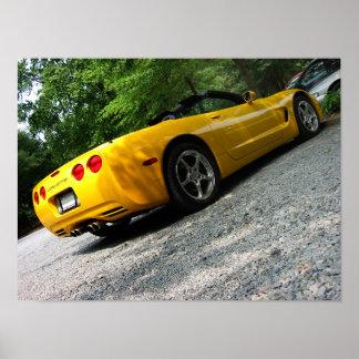 Sunny Corvette Poster