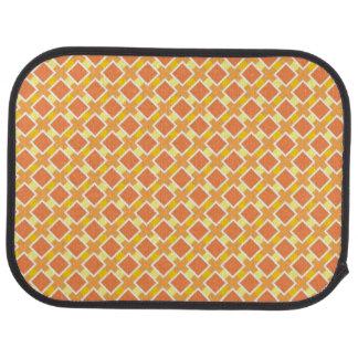 Sunny orange background retro floor mat