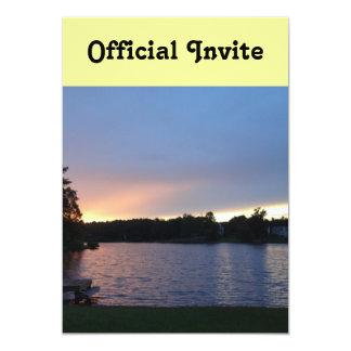 Sunset at Lake Swan, Paulding, Georgia 13 Cm X 18 Cm Invitation Card