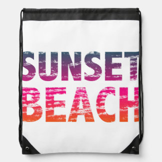 sunset beach distressed vintage vacation retro 80s rucksack
