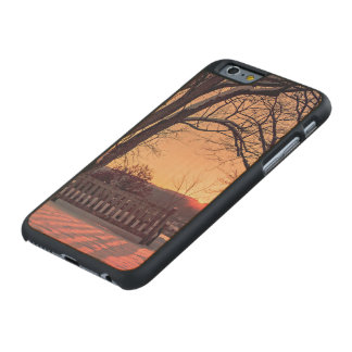 Sunset bench carved® maple iPhone 6 slim case