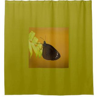 Sunset Butterfly Design Shower Curtain