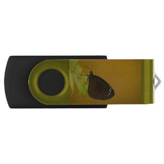 Sunset Butterfly Design Swivel USB 2.0 Flash Drive